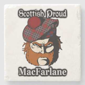 Scottish Proud Clan MacFarlane Tartan Stone Coaster