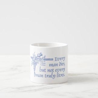 Scottish Quote, Sir William Wallace, Thistle Mug 6 Oz Ceramic Espresso Cup