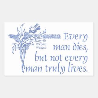 Scottish Quote, Sir William Wallace, Thistle Rectangular Sticker