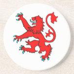 Scottish Rampant Lion Beverage Coasters
