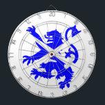 "Scottish Rampant Lion Dartboard<br><div class=""desc"">Scottish Rampant Lion and Saltire Pattern</div>"