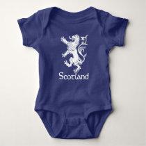 Scottish Rampant Lion Navy Blue Baby Bodysuit