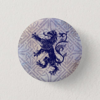 Scottish Rampant Lion Navy Blue Celtic Knot Button