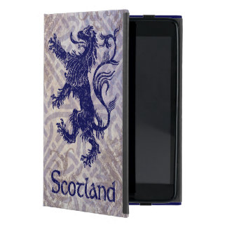 Scottish Rampant Lion Navy Blue Celtic Knot Case For iPad Mini