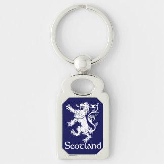 Scottish Rampant Lion Navy Blue Keychain