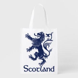 Scottish Rampant Lion Navy Blue Market Totes