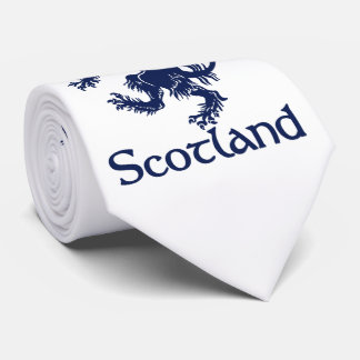 Scottish Rampant Lion Navy Blue Tie