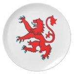 Scottish Rampant Lion Plates
