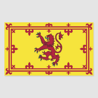 Scottish rampart rectangular sticker