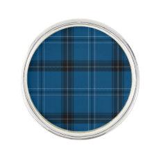Scottish Ramsay Blue Tartan Lapel Pin