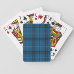 "Scottish Ramsay Blue Tartan Playing Cards<br><div class=""desc"">Scottish Clan Ramsay Ramsey tartan texture pattern.</div>"