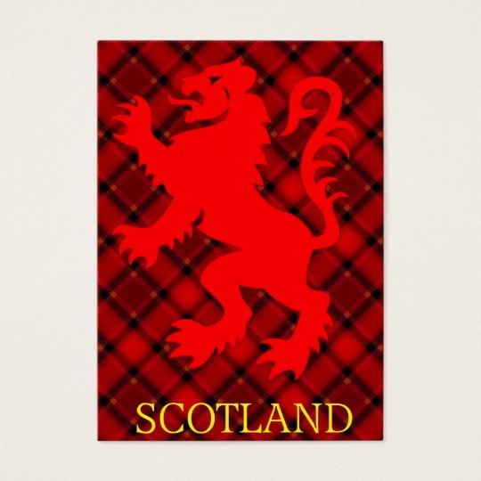 Scottish Red Lion Rampant on Tartan Business Card