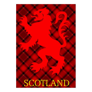 Scottish Red Lion Rampant on Tartan Business Cards