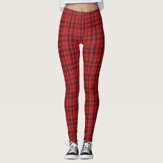 Scottish Red Plaid Leggings