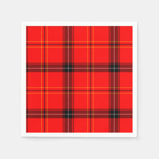 Scottish Red Tartan Paper Napkin