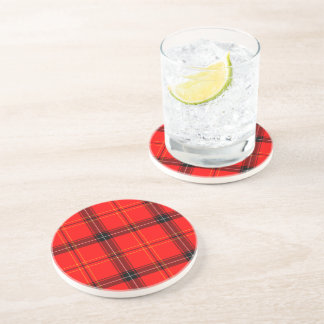Scottish Red Tartan Sandstone Coaster