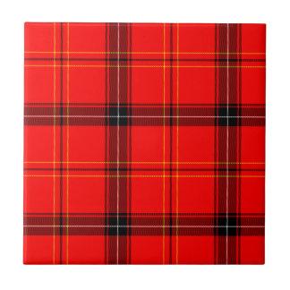 Scottish Red Tartan Tile