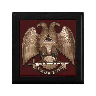 Scottish Rite 32 degree Mason Double Eagle Red Jewelry Box