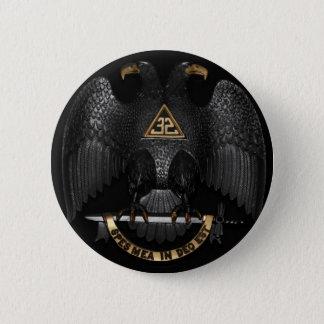 Scottish Rite 32 Degree Mason Eagle Pinback Button