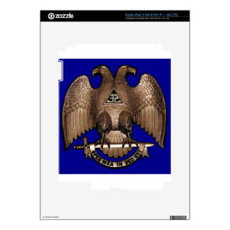Scottish Rite 32 Degree Royal Blue Decal For iPad 3