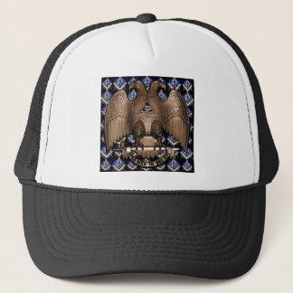 Scottish Rite Square & Compass Black Trucker Hat