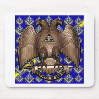 Scottish Rite Square & Compass Blue & Yellow Mousepad
