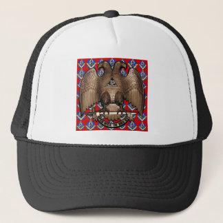 Scottish Rite Square & Compass Red Trucker Hat