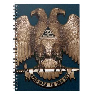 Scottish Rite Teal 32 Degree Note Books