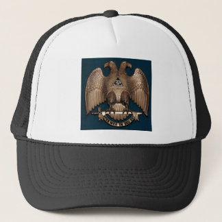 Scottish Rite Teal 32 Degree Trucker Hat