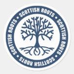 Scottish Roots Round Stickers