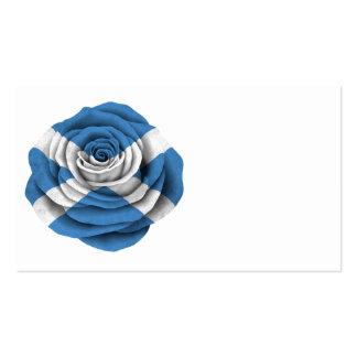 Scottish Rose Flag Business Card