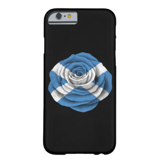Scottish Rose Flag on Black Barely There iPhone 6 Case