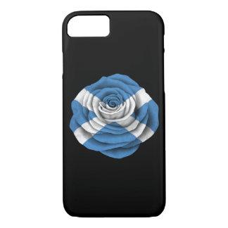 Scottish Rose Flag on Black iPhone 7 Case