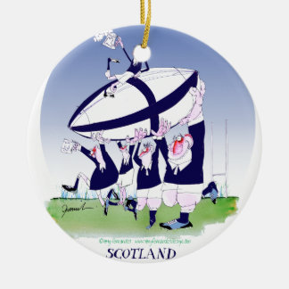 scottish rugby cheers, tony fernandes ceramic ornament