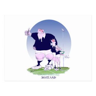 scottish rugby chums, tony fernandes postcard