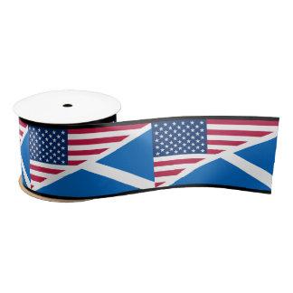 Scottish Saltire and American Flag Ribbon