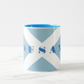 Scottish Saltire Flag Name Mug