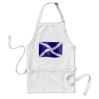 Scottish Saltire Flag with Celtic Knot Thistle Adult Apron