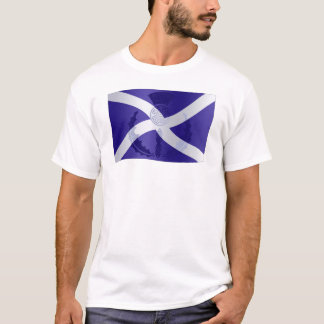 Scottish Saltire Flag with Celtic Knot Thistle T-Shirt