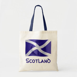 Scottish Saltire Flag with Celtic Knot Thistle Tote Bag