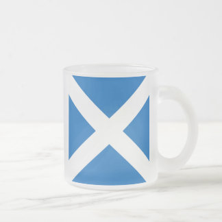 Scottish Saltire Party Frosted Glass Coffee Mug