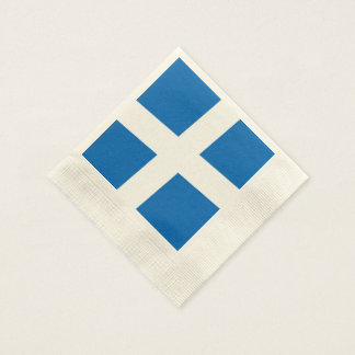 Scottish Saltire Party Coined Cocktail Napkin