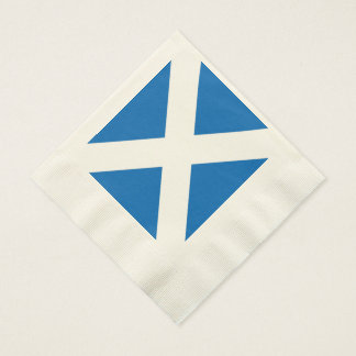Scottish Saltire Party Coined Luncheon Napkin