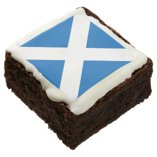 Scottish Saltire Party Square Brownie