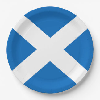 Scottish Saltire Party 9 Inch Paper Plate