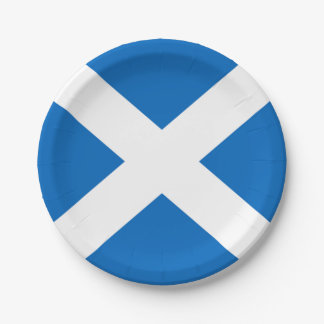 Scottish Saltire Party 7 Inch Paper Plate