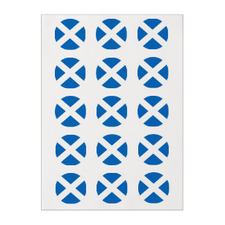 Scottish Saltire Party Edible Frosting Rounds