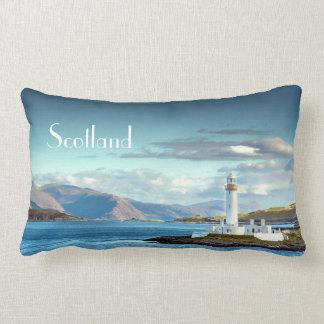 Scottish Scenic Lighthouse View Oban Port Lumbar Pillow