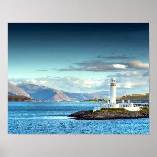 Scottish Scenic Lighthouse View Oban Port Print