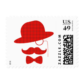 Scottish Sir with Moustache Postage Stamp